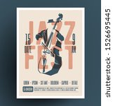 jazz music festival or party or ... | Shutterstock .eps vector #1526695445