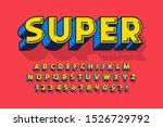 trendy 3d comical font design ...   Shutterstock .eps vector #1526729792