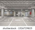Empty Underground Parking ...