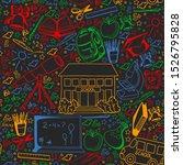 vector pattern with school... | Shutterstock .eps vector #1526795828
