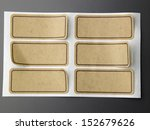 six of blank brown color sticker | Shutterstock . vector #152679626