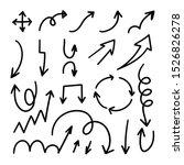 arrows hand drawn doodle vector ... | Shutterstock .eps vector #1526826278