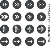 arrow buttons icon set for web...