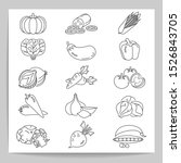 set of vegetable   vector... | Shutterstock .eps vector #1526843705