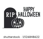 halloween celebration with... | Shutterstock .eps vector #1526848622