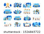 team of young people are... | Shutterstock . vector #1526865722