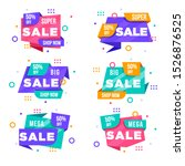 big set of colorful abstract...   Shutterstock .eps vector #1526876525