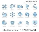 set of blockchain technology... | Shutterstock .eps vector #1526877608