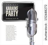 karaoke party background   Shutterstock .eps vector #152688272