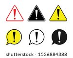 attention icon set  attention... | Shutterstock .eps vector #1526884388