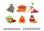 cute animated vegetables in... | Shutterstock .eps vector #1526910425