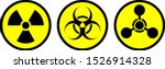 radiation sign  biological... | Shutterstock .eps vector #1526914328