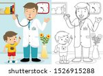 Cartoon Of Doctor With A Boy In ...