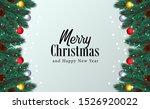 frame of fir garland decoration ... | Shutterstock .eps vector #1526920022