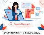 speech therapist consultation ... | Shutterstock .eps vector #1526923022