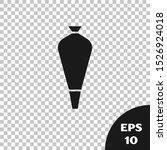 black pastry bag for decorate... | Shutterstock .eps vector #1526924018