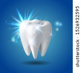 white shining tooth  concept... | Shutterstock .eps vector #1526932595