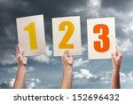 one  two and three. hands... | Shutterstock . vector #152696432