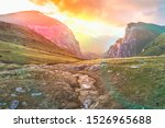 beautiful grassy valley in the... | Shutterstock . vector #1526965688