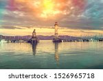beautiful evening seascape with ... | Shutterstock . vector #1526965718