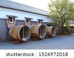 Three Big Wooden Tank Of Sake...