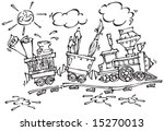 baby train with pencils and... | Shutterstock .eps vector #15270013