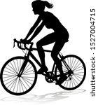 a woman bicycle riding bike... | Shutterstock .eps vector #1527004715