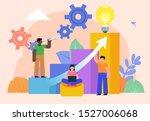 business growth  career ladder... | Shutterstock .eps vector #1527006068