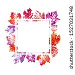 frame of ink printing leaves... | Shutterstock . vector #1527031748