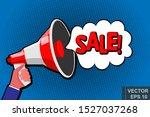 megaphone. vector design. loud  ...   Shutterstock .eps vector #1527037268