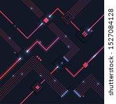 modern tech flat design circuit ... | Shutterstock .eps vector #1527084128