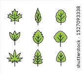 green leaf icons design...   Shutterstock .eps vector #1527093338
