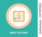 vector baby sitting... | Shutterstock .eps vector #1527099032