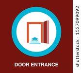 emergency exit sign  exit door... | Shutterstock .eps vector #1527099092