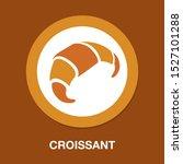 vector croissant illustration ... | Shutterstock .eps vector #1527101288