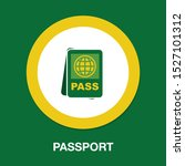 passport and ticket icon  ... | Shutterstock .eps vector #1527101312