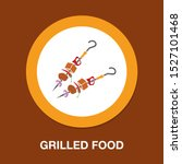 barbecue icon   grilled food... | Shutterstock .eps vector #1527101468