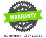 warranty sign. warranty green...   Shutterstock .eps vector #1527113162