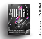 live indie music night party or ... | Shutterstock .eps vector #1527138878