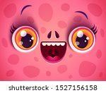 Vector Cute Face Of Pink...