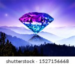 precious crystal clear diamond... | Shutterstock . vector #1527156668
