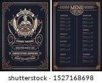 vintage template for ... | Shutterstock .eps vector #1527168698