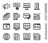 advertise and advertising icon... | Shutterstock .eps vector #1527180008