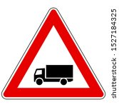 truck and attention sign on... | Shutterstock .eps vector #1527184325