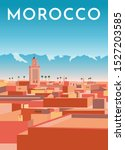 Morocco Travel Retro Poster ...