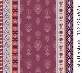 vector decorative paisley... | Shutterstock .eps vector #1527205625