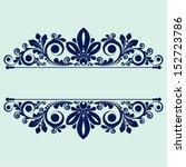 vector vintage floral ... | Shutterstock .eps vector #152723786
