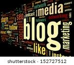 blog and social media concept... | Shutterstock . vector #152727512