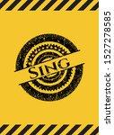 sing black grunge emblem inside ... | Shutterstock .eps vector #1527278585