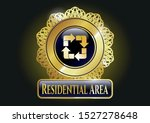 golden emblem with recycle... | Shutterstock .eps vector #1527278648